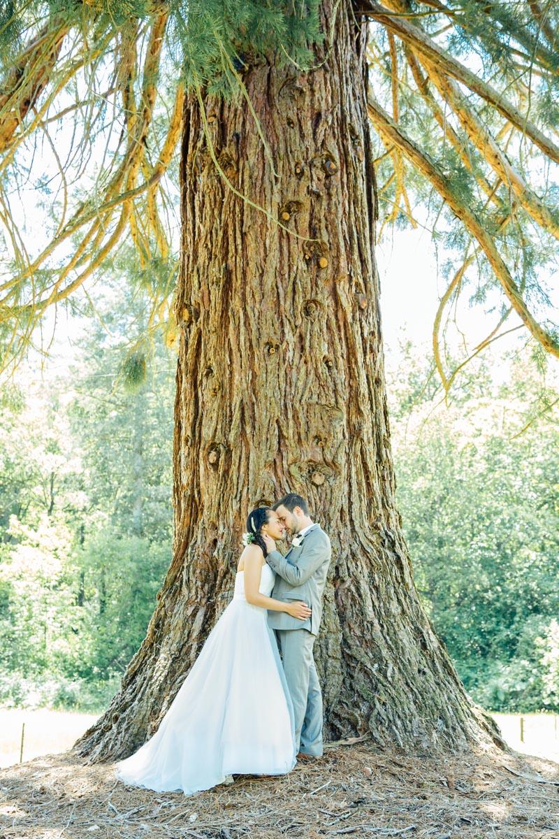 photogaphe de couple mariage simple et naturel original nature style Sancerre